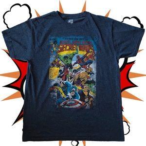 Marvel Super Hero's Secret Wars Shirt, Size XL